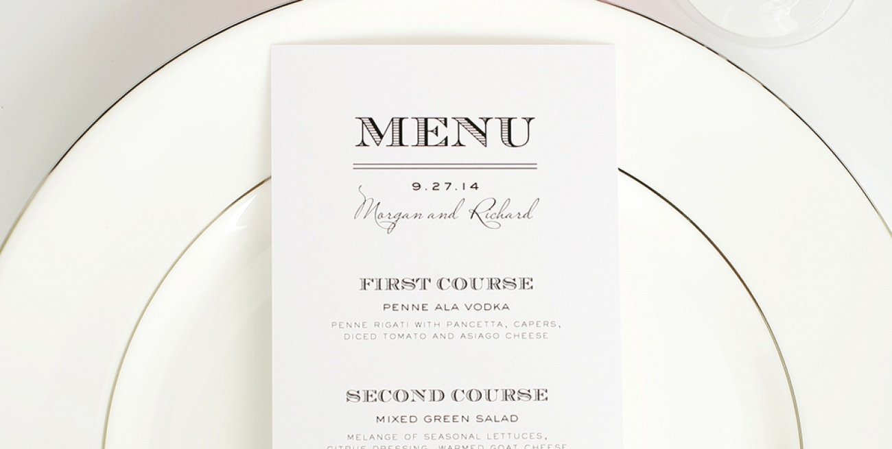 Favorito Idee menu matrimonio LB81