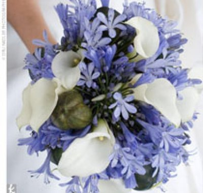 bouquet tema matrimonio in blu