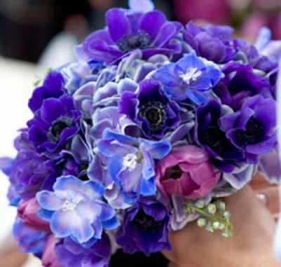 bouquet matrimonio blu