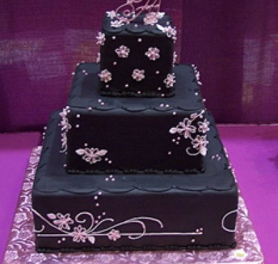 torta nuziale nera