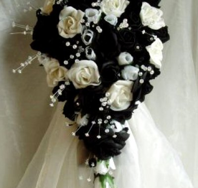 bouquet tema matrimonio in nero