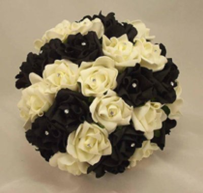 bouquet a palla tema matrimonio in nero