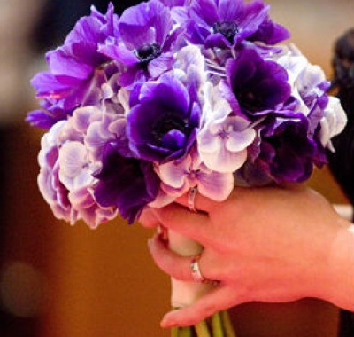 bouquet tema matrimonio in viola