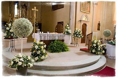 Decorazioni Per La Chiesa Matrimonio : Addobbi chiesa matrimonio