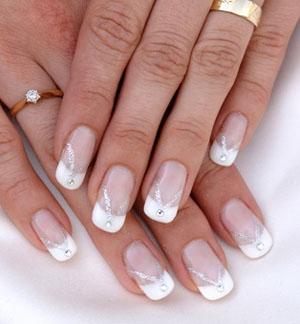 Unghie sposa for Unghie gel decorazioni semplici